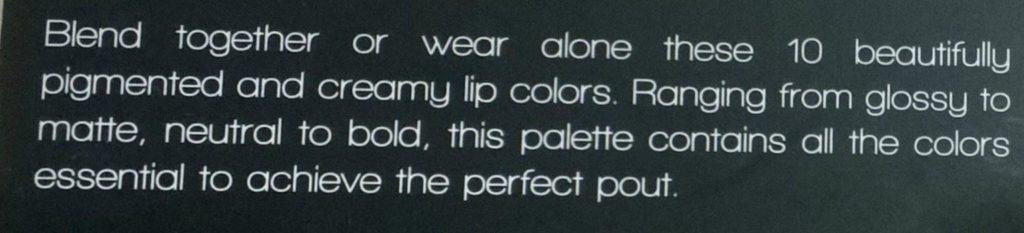 Karity 10 Creamy Lip Palette Review  15