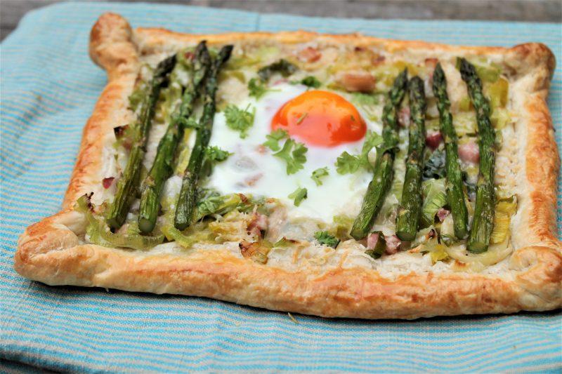 Recipe: Asparagus, Leek and Parmigiano-Reggiano Puff Pastry Tarts