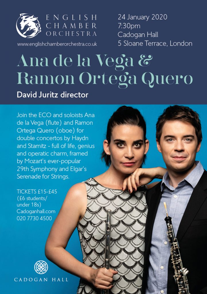 English Chamber Orchestra with Ana de la Vega and Ramon Ortega Quero at Cadogan Hall