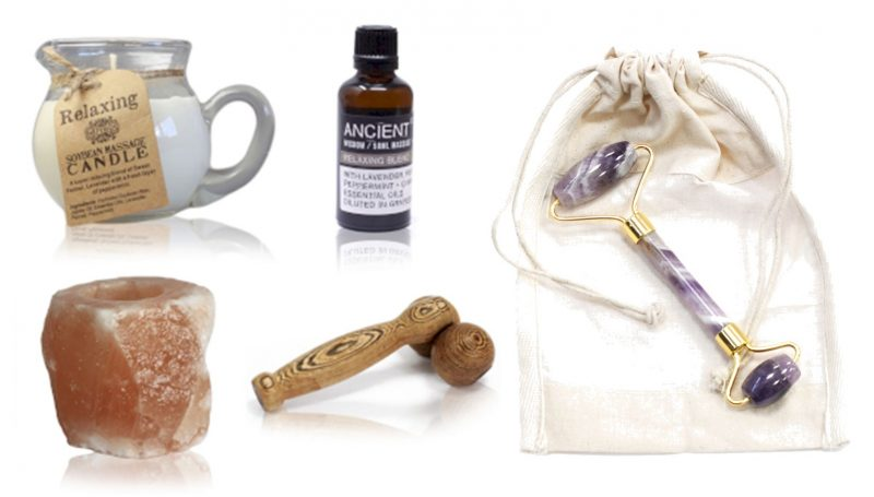 WIN a Massage Bundle inc Face Roller, Candle & Holder, Massage Oil & Roller