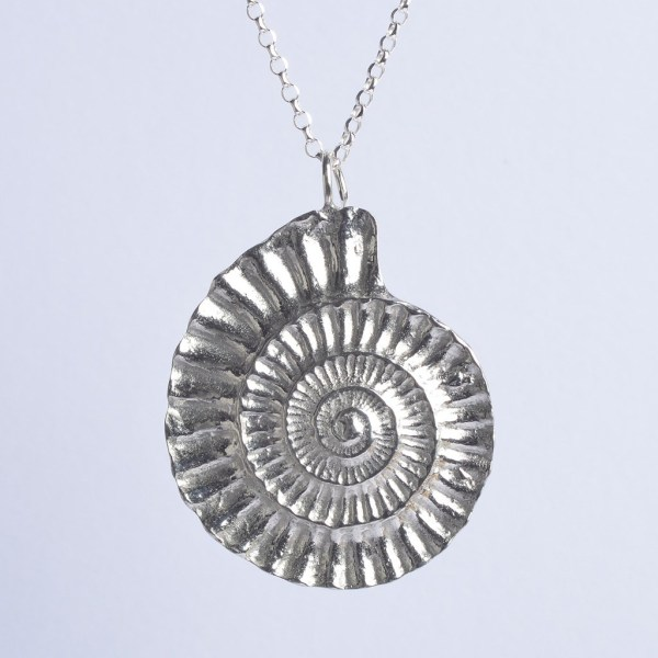 Fossil Ammonite Necklace Fossil Jewellery UK Made Gifts