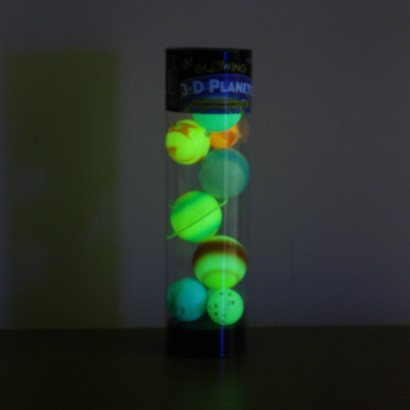 3D Hanging Glow in the Dark Planets