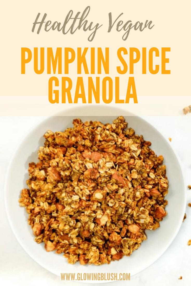 healthy pumpkin spice granola (pin)