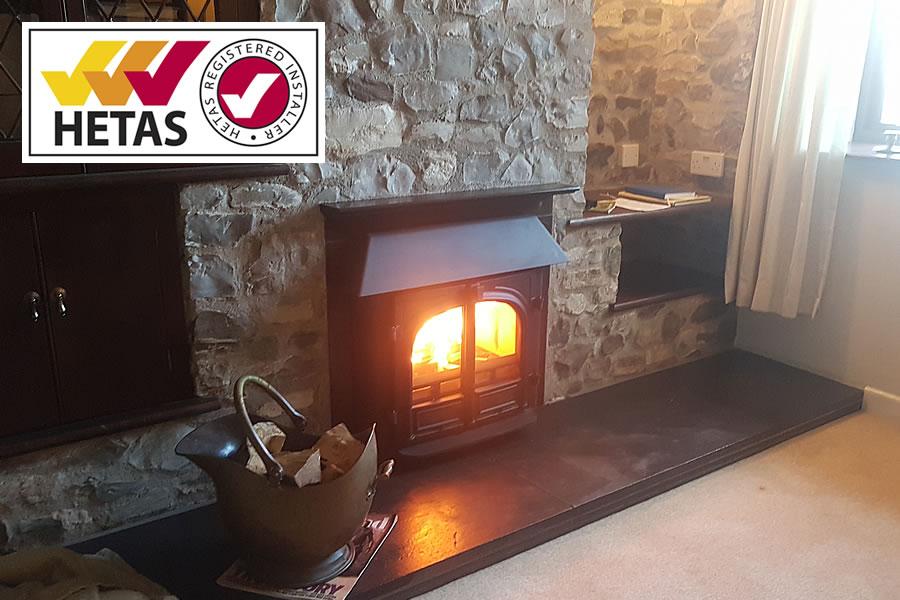 Hetas wood burning stove installer