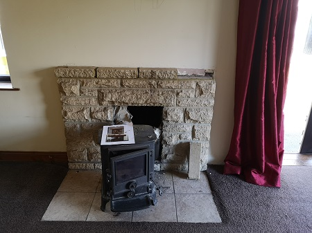 Fireplace alterations and false chimney breast in Taunton.