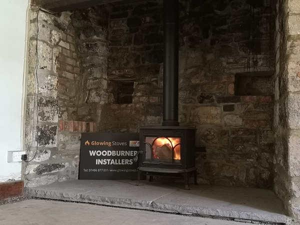 wood burning stove installed in Wrantage, Taunton, Somerset