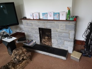 Langport multi fuel stove installation.