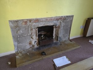 Fireplace enlargement and alterations in Somerset.