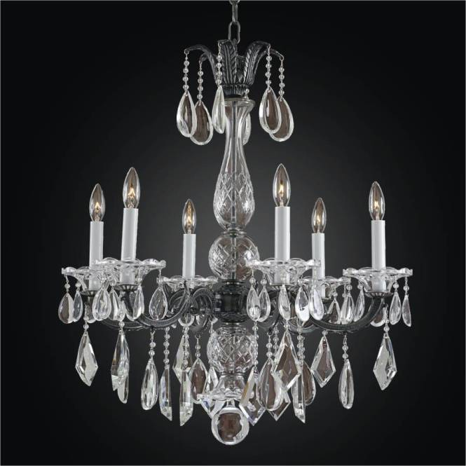 Old World Crystal 6 Light Chandelier English Manor 546m By Glow Lighting