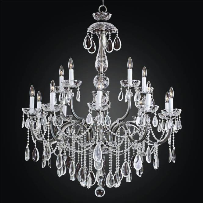Large Wrought Iron Chandeliers Beaded Old World 543h By Glow Lighting