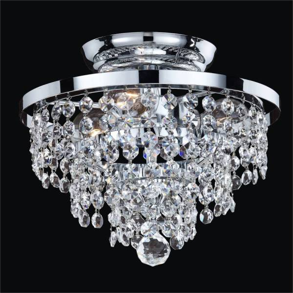 Small Crystal Ceiling Light Fixture   Vista 628A     GLOW     Lighting Small Crystal Ceiling Light Fixture   Vista 628AC10SP 7C