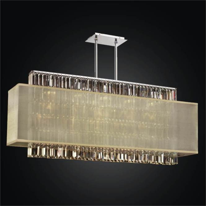 Rectangular Crystal Chandelier Shade Reflections 600 By Glow Lighting