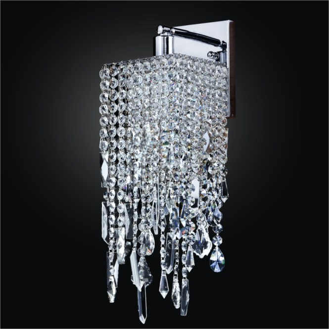 Square Crystal Sconce Wall Sconces Cityscape 598m By Glow Lighting