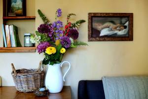 flowers in the cottage