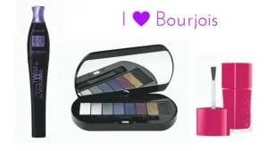 Kosmetyki Bourjois - Twist Up The Volume Black Balm,Palette Le Smoky, lakier La Laque
