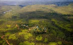 An aerial of Hidden Valley Inn in Belize.