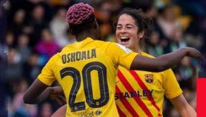 Asisat Oshoala Scores Brace As Barcelona Win First Ever Super Cup Title