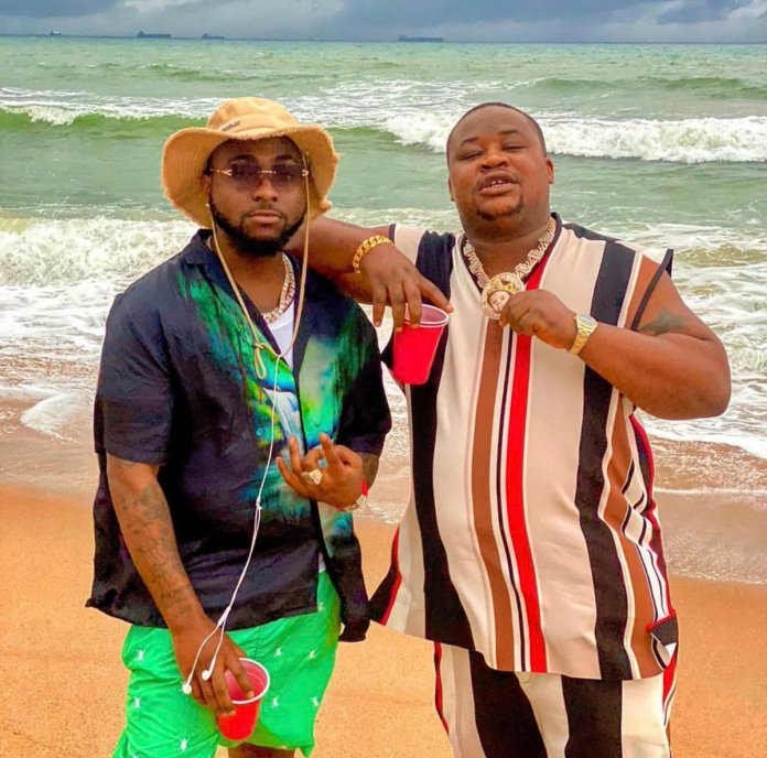 Have a look as Davido and Cubana Chief Priest engage in #DontLeaveMe  challenge Video