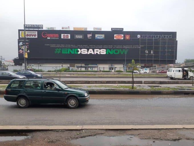 EndSARS: Burna Boy places #EndSARS billboard across Nigeria