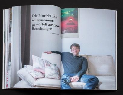 """Impressionen aus Annemaries Fotobuchprojekt """"Personal Spaces"""". Hier: Zuhause bei Joachim Förster"""