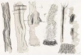 Per-Kirkeby, Ohne Titel (2004), Kohle, Kreide und Aquarell auf Papier Louisiana Museum of Modern Art, Schenkung Per Kirkeby