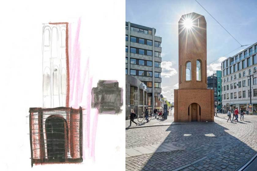 Verkehrsturm_Collage_Per_Kirkeby_Boettcherstraße