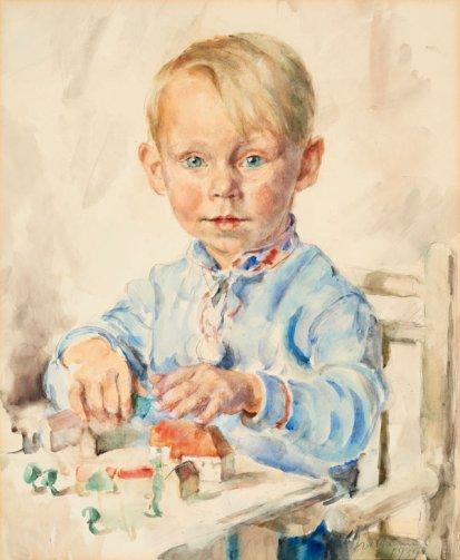 Kinderporträt von Elisabeth Noltenius. © Focke Museum