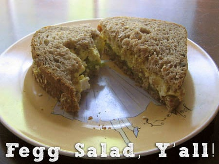 Fegg Salad Sandwich - This tofu salad is a family favorite, and it's super-easy to make.