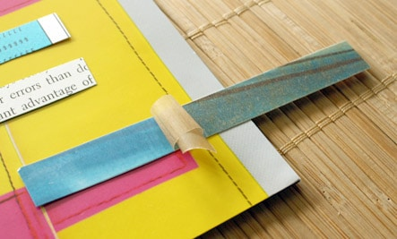 Here's how to make washi tape using paper from your stash!