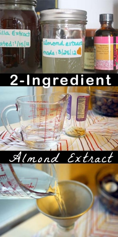 You only need two ingredients to make your own almond extract!
