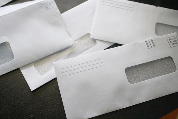 junk mail envelopes