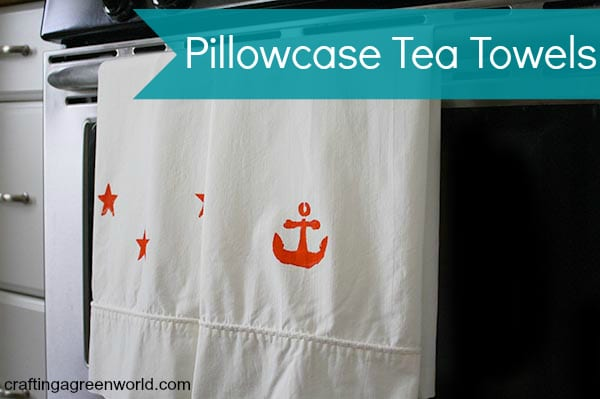 Got an old pillowcase in your crafty stash? Turn it into a pair of DIY tea towels in less than half an hour!