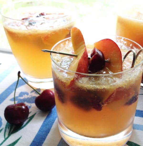 This white sangria recipe is my version of a classic patio pitcher, with an unexpected zing from fresh ginger.