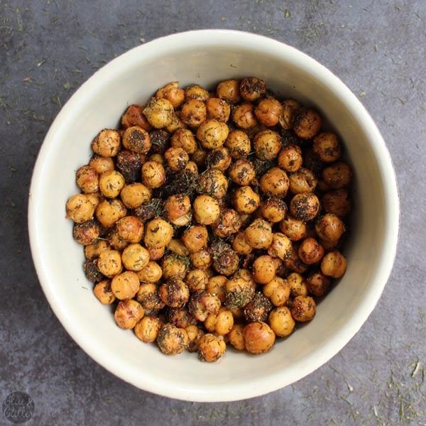 Ranch Seasoned Air Fried Chickpeas are simple to make and super delicious! You only need six ingredients and less than half an hour to make them.