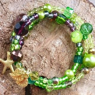 grünes Wickelarmband