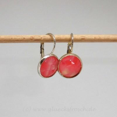 Ohrringe rosa resin