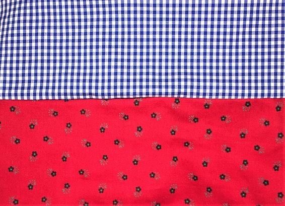schlauchschal rot und blau kariert