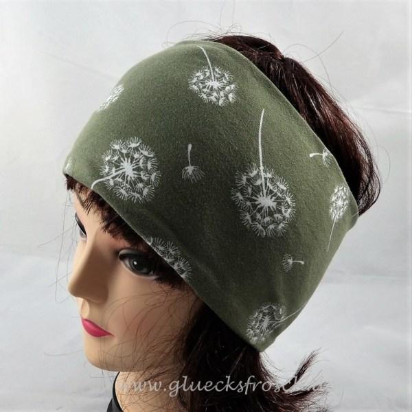 Stirnband grün Pusteblume
