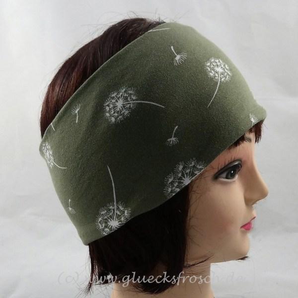 Stirnband grün Pusteblumen