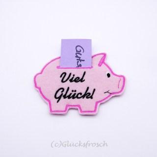 Schwein Viel Glück rosa