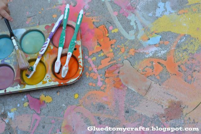 Liquid Chalk & Toothbrushes {Craft}