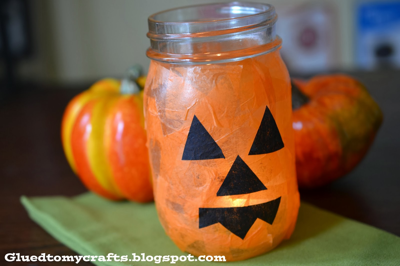 Mason Jar Jack O Lantern Kid Craft