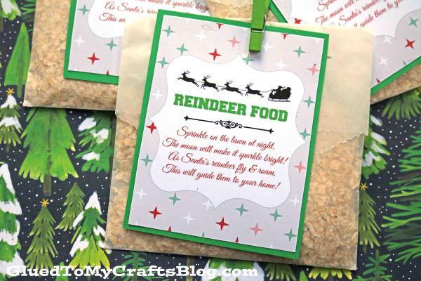 reindeer food craft w free gift tag printable glued to my crafts