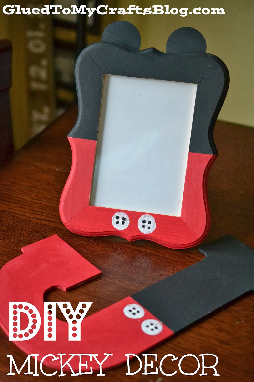diy mickey decor craft - Mickey Mouse Picture Frames