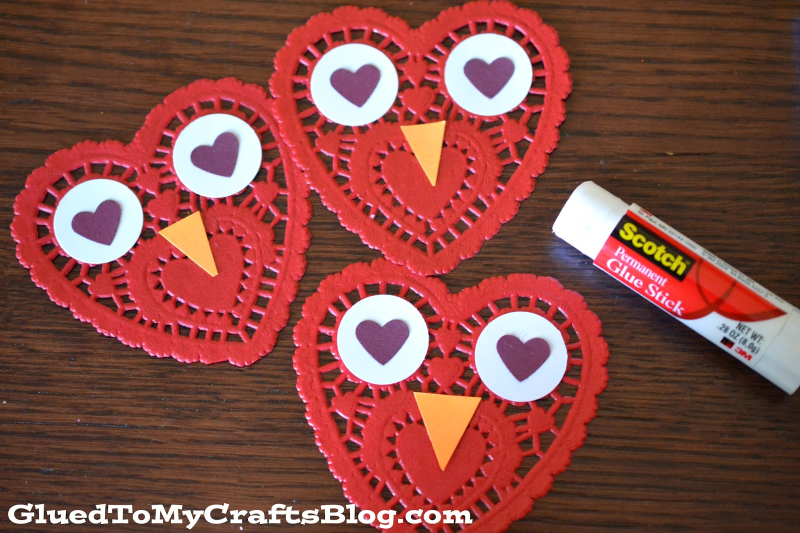 Easy Paper Doily Owl Cards - Glued To My Crafts