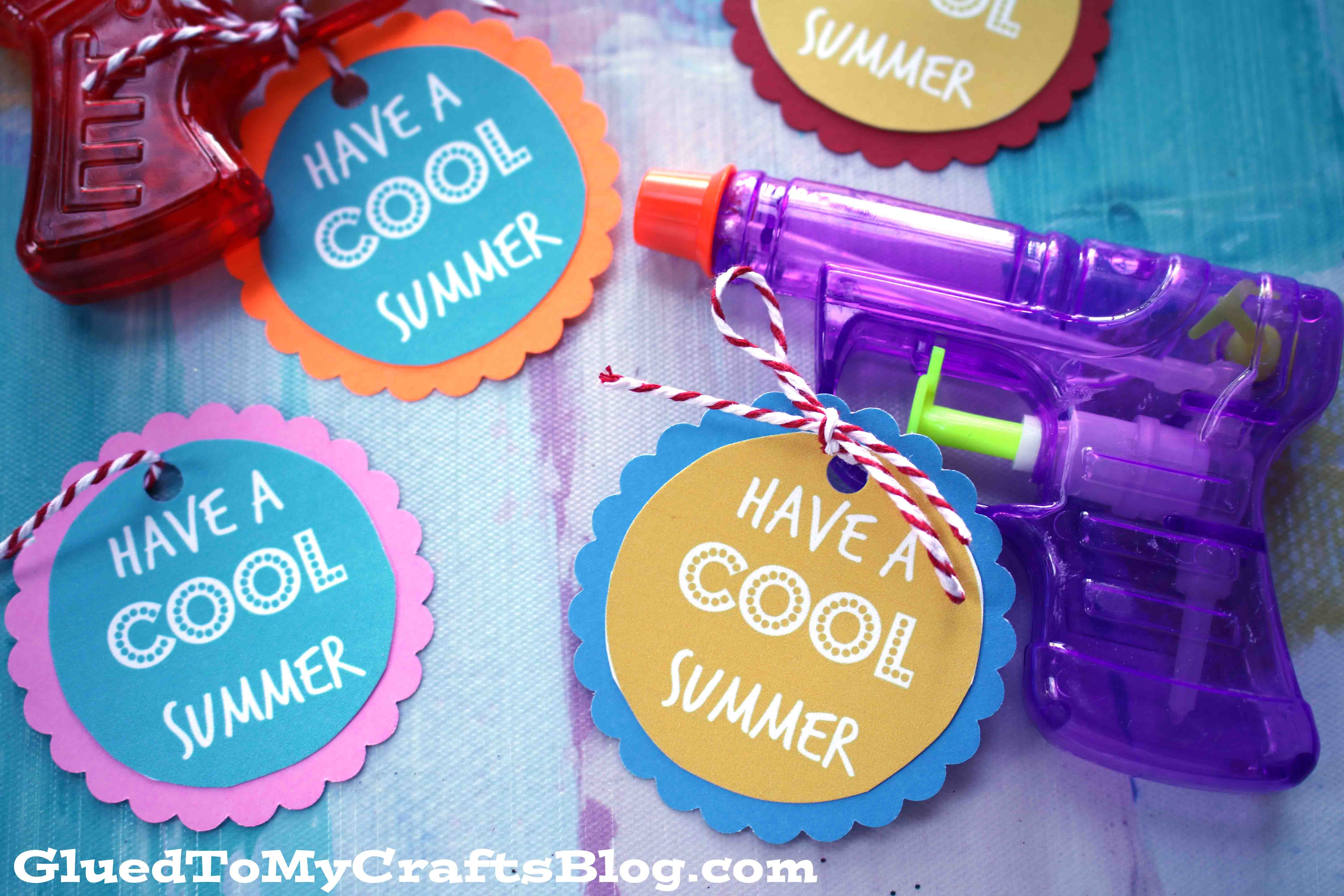 photograph regarding Have a Cool Summer Printable identified as Summer time Squirt Gun Tags Absolutely free Printable