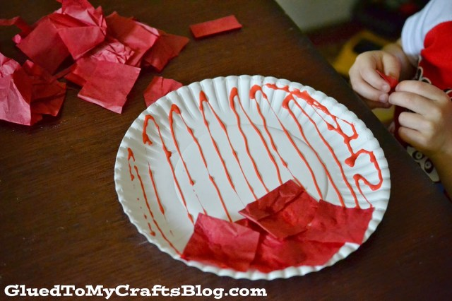 Tissue Paper Apple {Kid Craft}