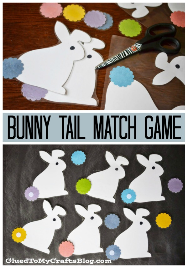 Bunny Tail Match Game {Busy Bag Idea}