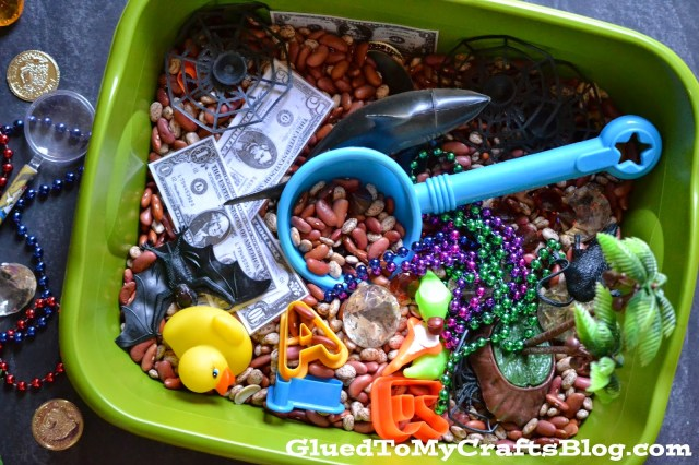 Pirate Treasure Hunt {Sensory Bin Idea}