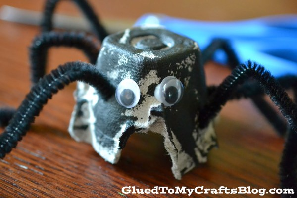 Egg Carton Spider Kids Craft Idea